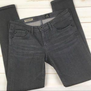 AG Stevie ankle slim straight leg gray jeans 27R